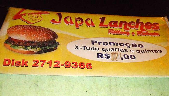Japa Lanches - SIM São Gonçalo