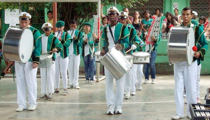 Alunos da Escola Estadual Leonor Franco Moreira