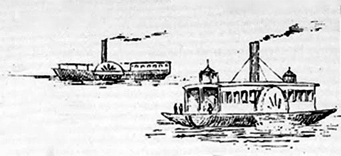 Barcas à vapor, sec XIX (1835)