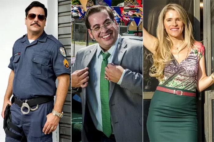 Lúcio Mauro Filho, Leandro Hassum e Ingrid Guimarães estrelam a série Chapa Quente. Fonte: Divulgação Tv Globo