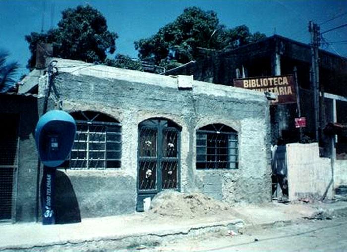 Biblioteca Visconde de Sabugosa, Jardim Catarina, ainda na fase das obras.