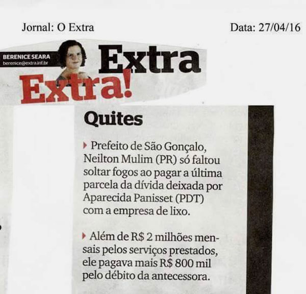 Jornal Extra – Berenice Seara