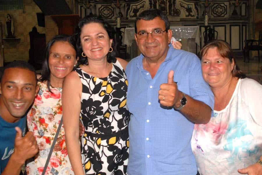Eliane Nanci e José Luiz Nanci na Igreja de Nossa Senhora das Graças, no Porto Velho.