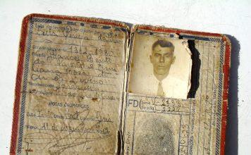 Luiz Pereira da Silva, o Luiz Caçador; carteira de identidade expedida pelo Instituto Pereira Faustino, do antigo Estado do Rio, em 11/12/1947; acervo de Maria José de Souza; reprodução de Jorge Cesar Pereira Nunes.