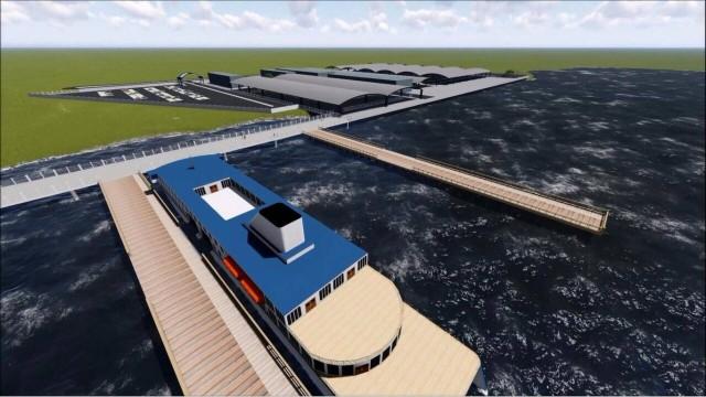 Projeto de estação das barcas em Duque de Caxias, RJ.