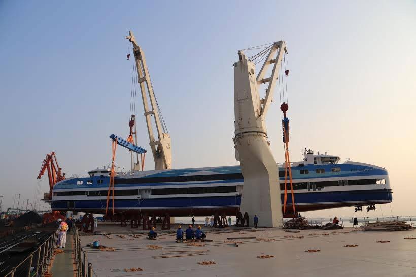 Barca Pão de Açúcar se preparando para entrar em operação no trajeto Praça XV – Arariboia.