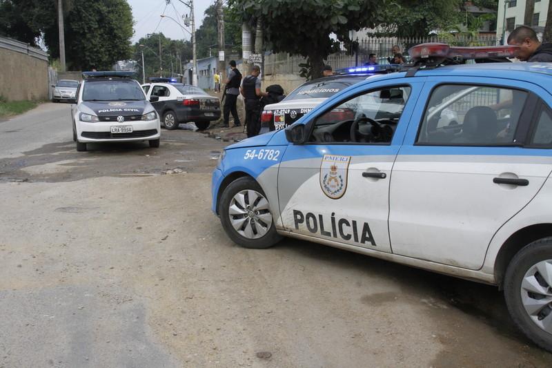 Homicídio no Jockey, região do Morro da Dita. Foto: Foto: Julio Diniz / O São Gonçalo
