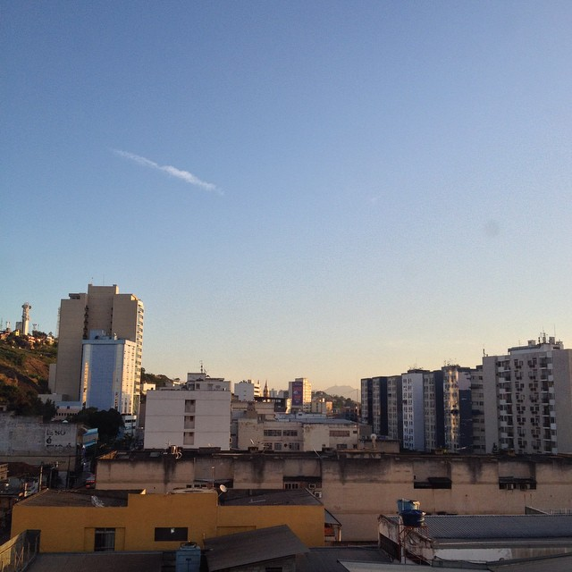 Centro de São Gonçalo visto de cima.