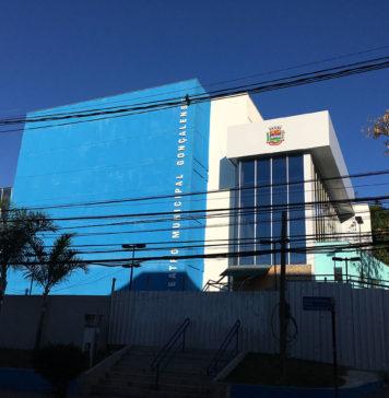 Prédio do Teatro Municipal Gonçalense ainda fechado. Foto: Matheus Graciano/SIM São Gonçalo
