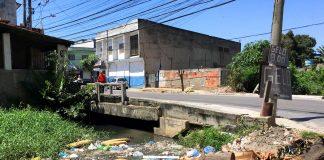 Rio Marimbondo no Porto Novo, São Gonçalo. Foto: Matheus Graciano / SIM São Gonçalo