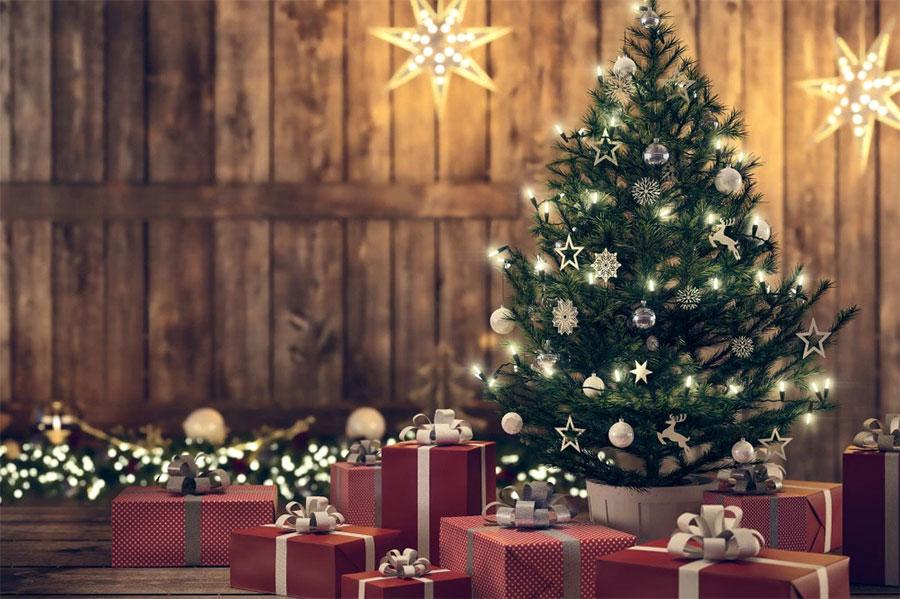 Árvore de Natal gringa.